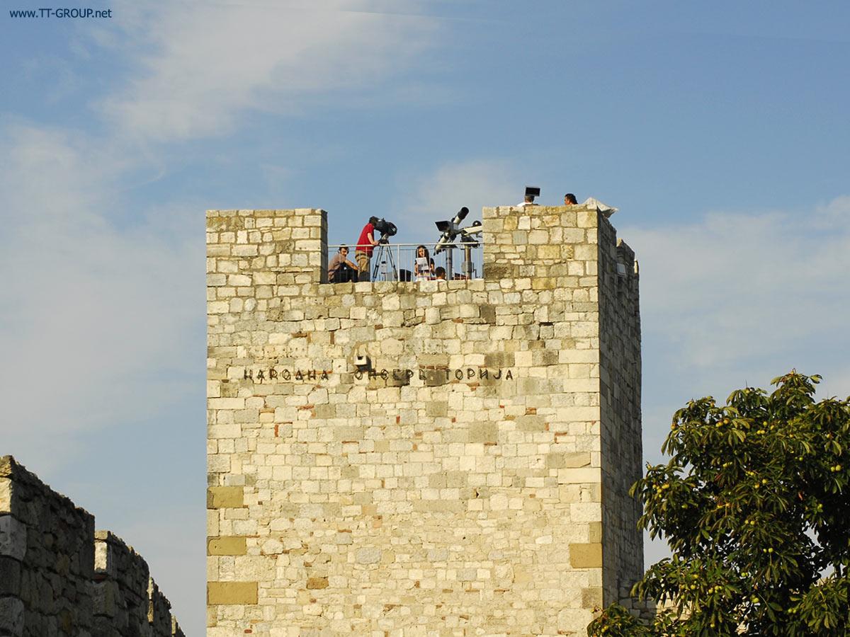 Pogled na vrh kalemegdanske kule