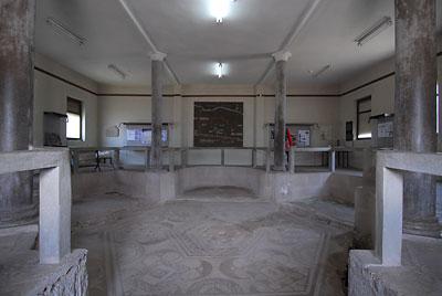 Unutrašnjost Konstantinove palate u Medijani