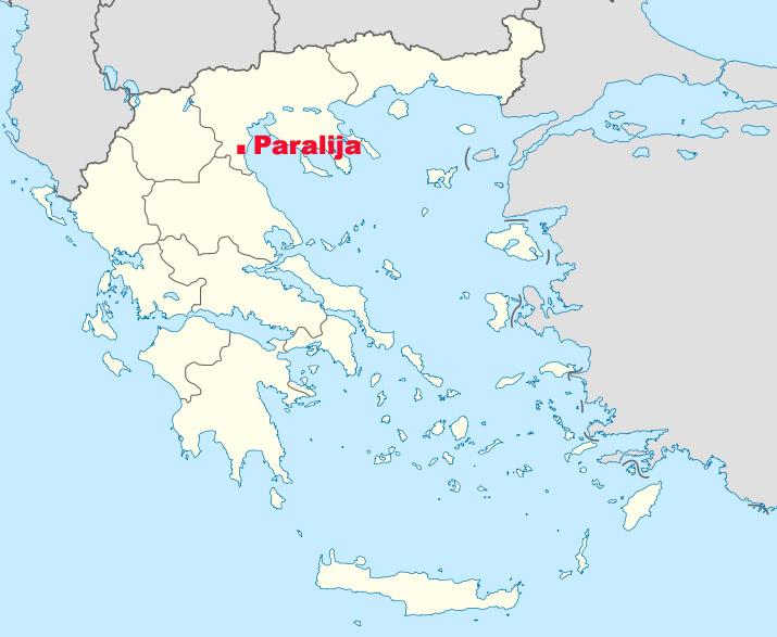 Mapa Paralije