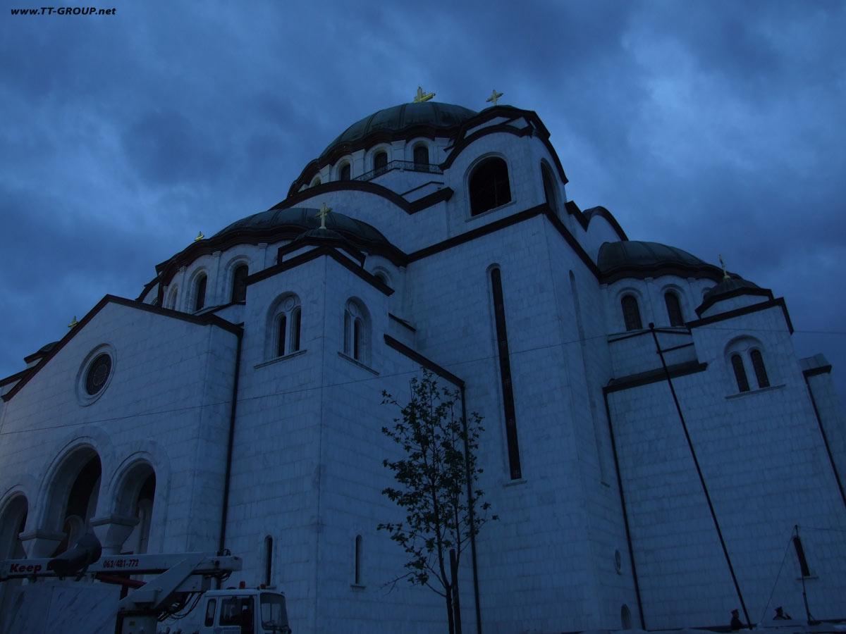 Neobičan ugao najvećeg pravoslavnog hrama na Balkanu