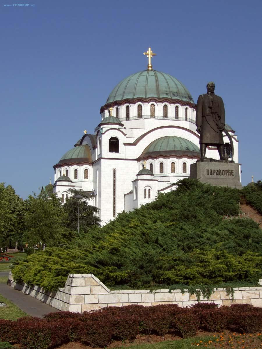 Slika Hrama Svetog Save danju