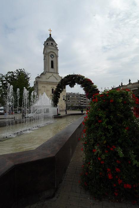 Fontana ispred crkve