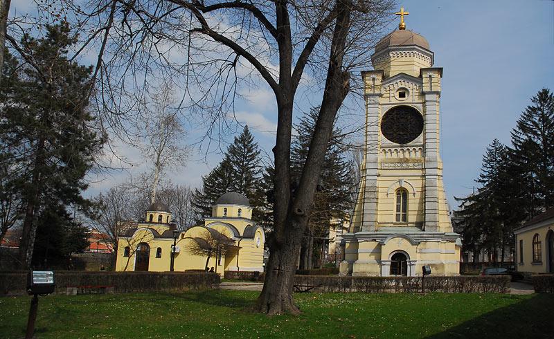 Panorama crkve sa zvonikom