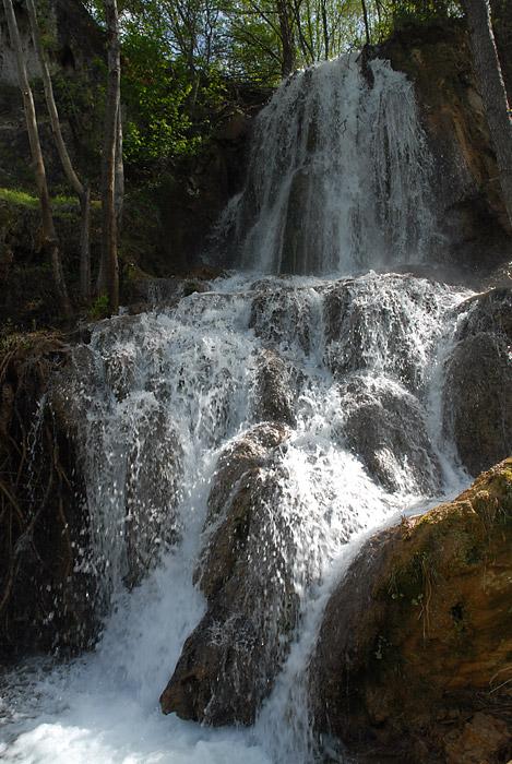 Kapljive vodopada na krupnoj blendi, manji broj blende