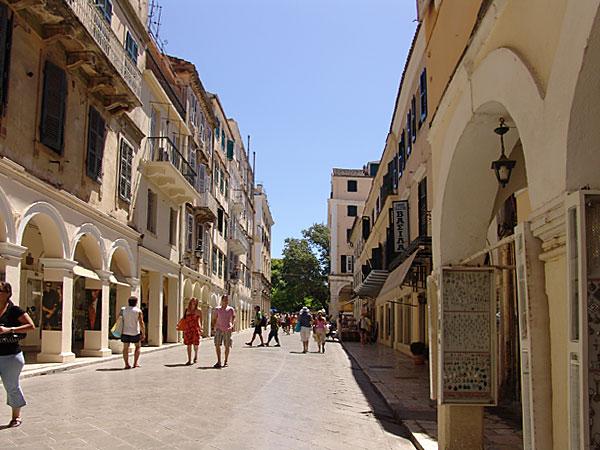 Ulice na Krfu, grad Krf
