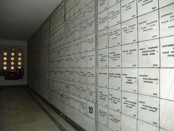 Ispisana imena stradalih junaka