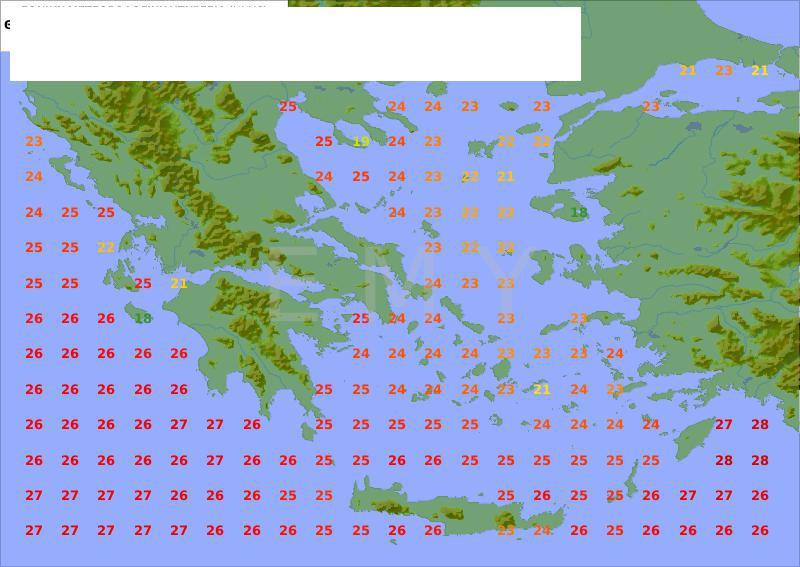 Temperatura mora za celu Grčku