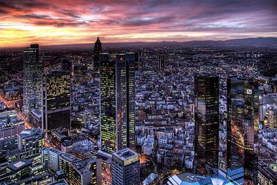Frankfurt, finansijski centar Nemačke